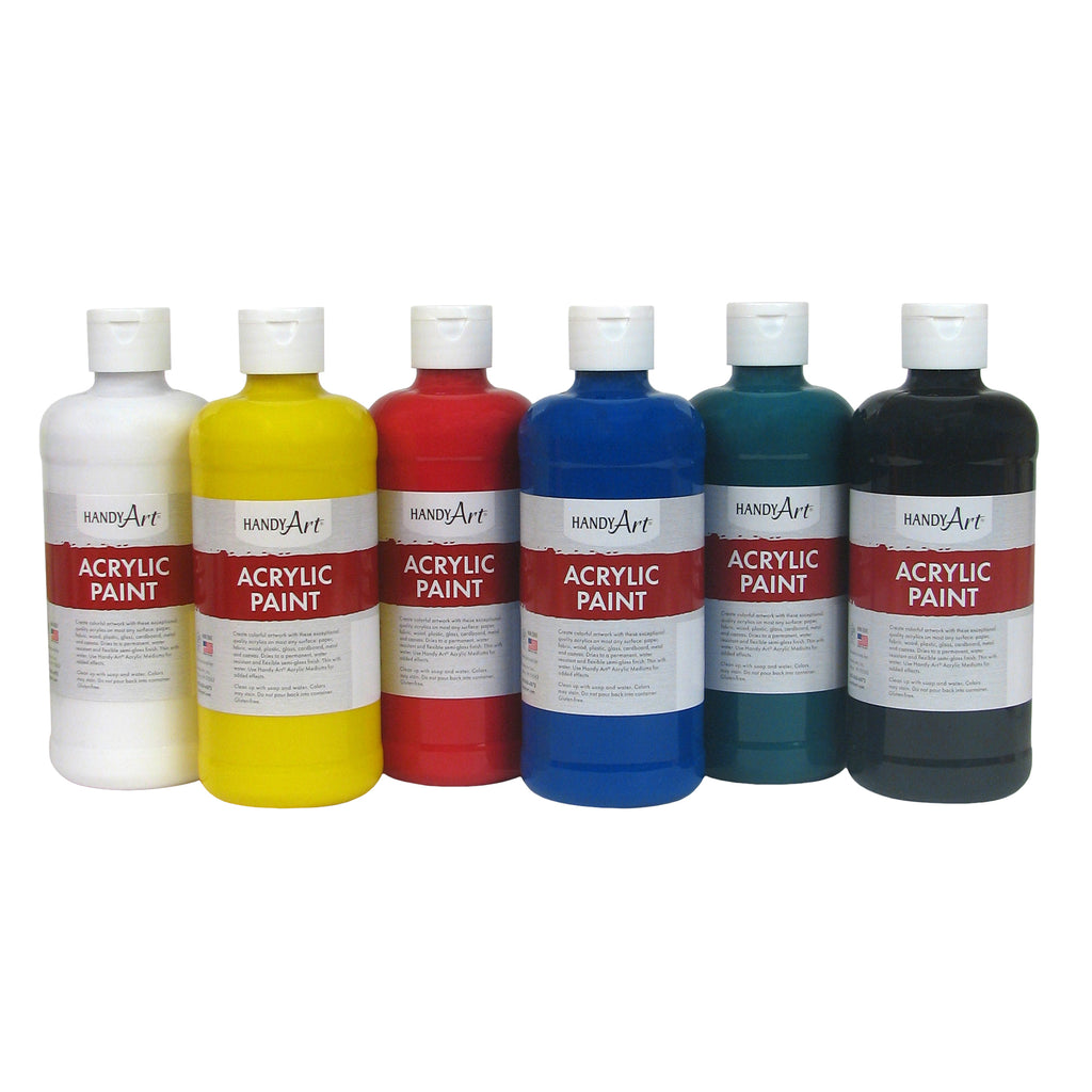 Handy Art® Student Acrylic Paint, 16 Oz Assorted Set of 6