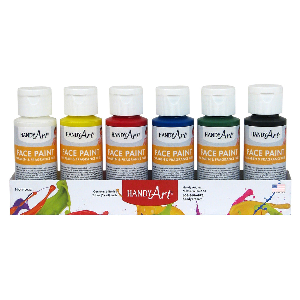 Handy Art® Washable Face Paint Kit, Set of 6, 2 Oz