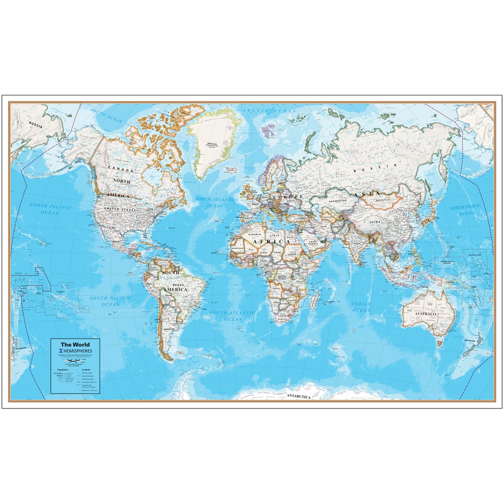 Round World Products Contemporary Series World Map