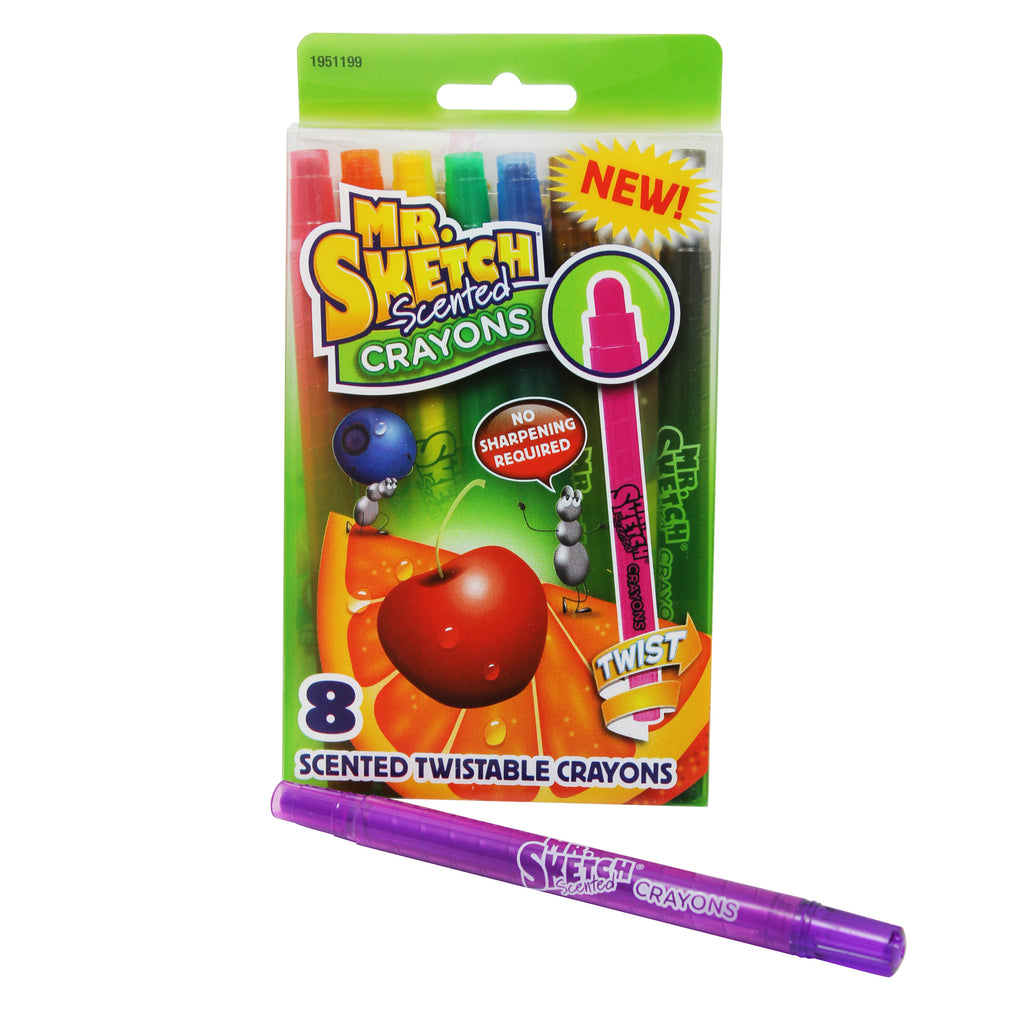 Sanford L.P. Mr. Sketch Scented Twistable Crayons, 8 Count