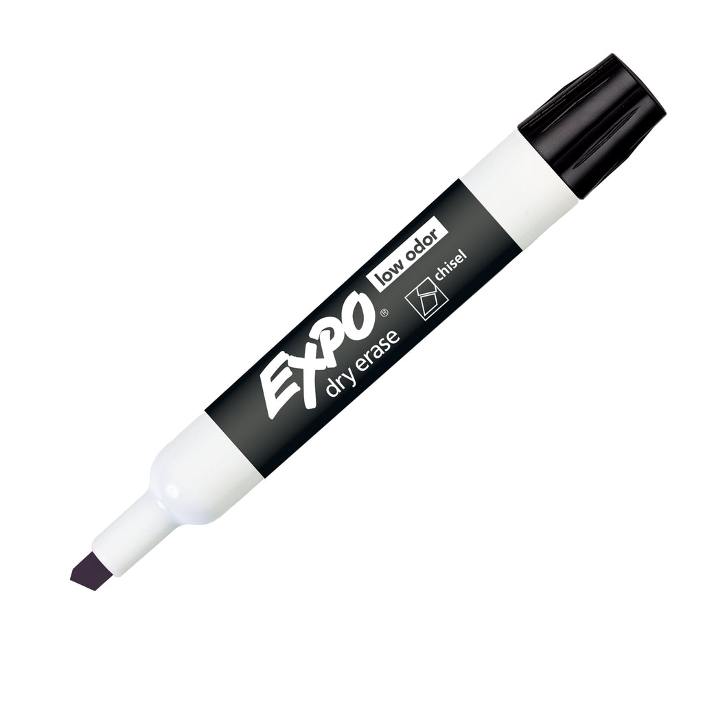 Newell Brands Expo Low Odor Dry Erase Chisel Tip Marker, Black