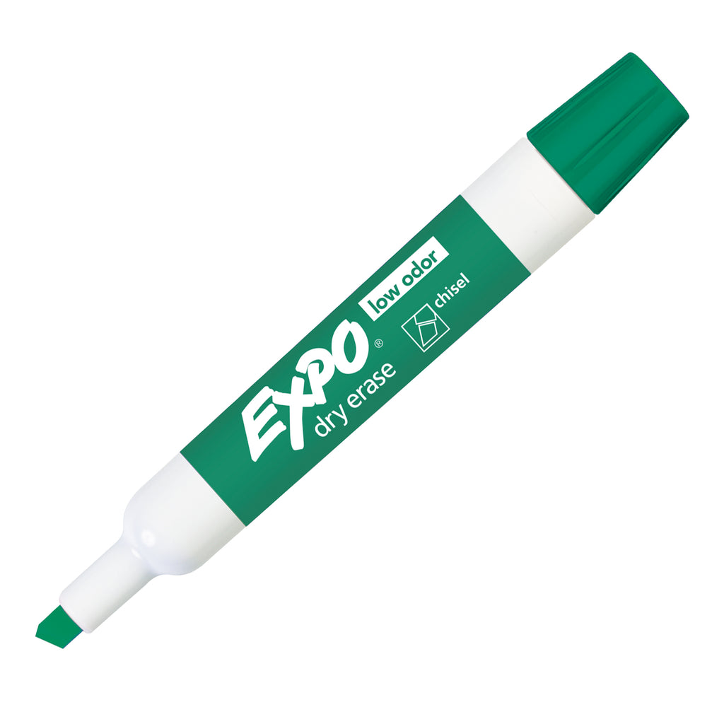 Newell Brands Expo Low Odor Dry Erase Chisel Tip Marker, Green