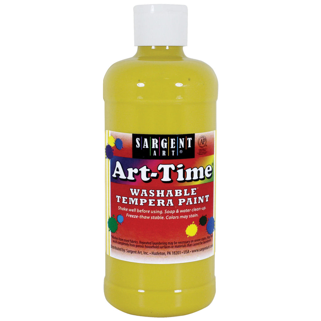 Sargent Art® Washable Tempera Paint, 16 Oz. Yellow