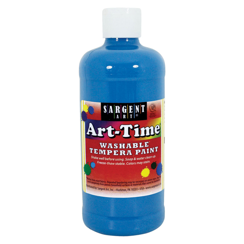 Sargent Art® Washable Tempera Paint, 16 Oz. Turquoise