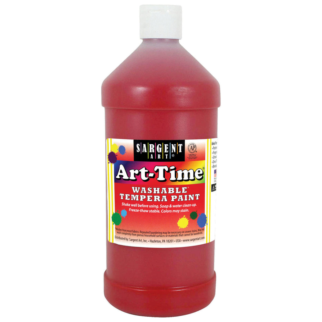 Sargent Art® Washable Tempera Paint, 32 Oz. Red