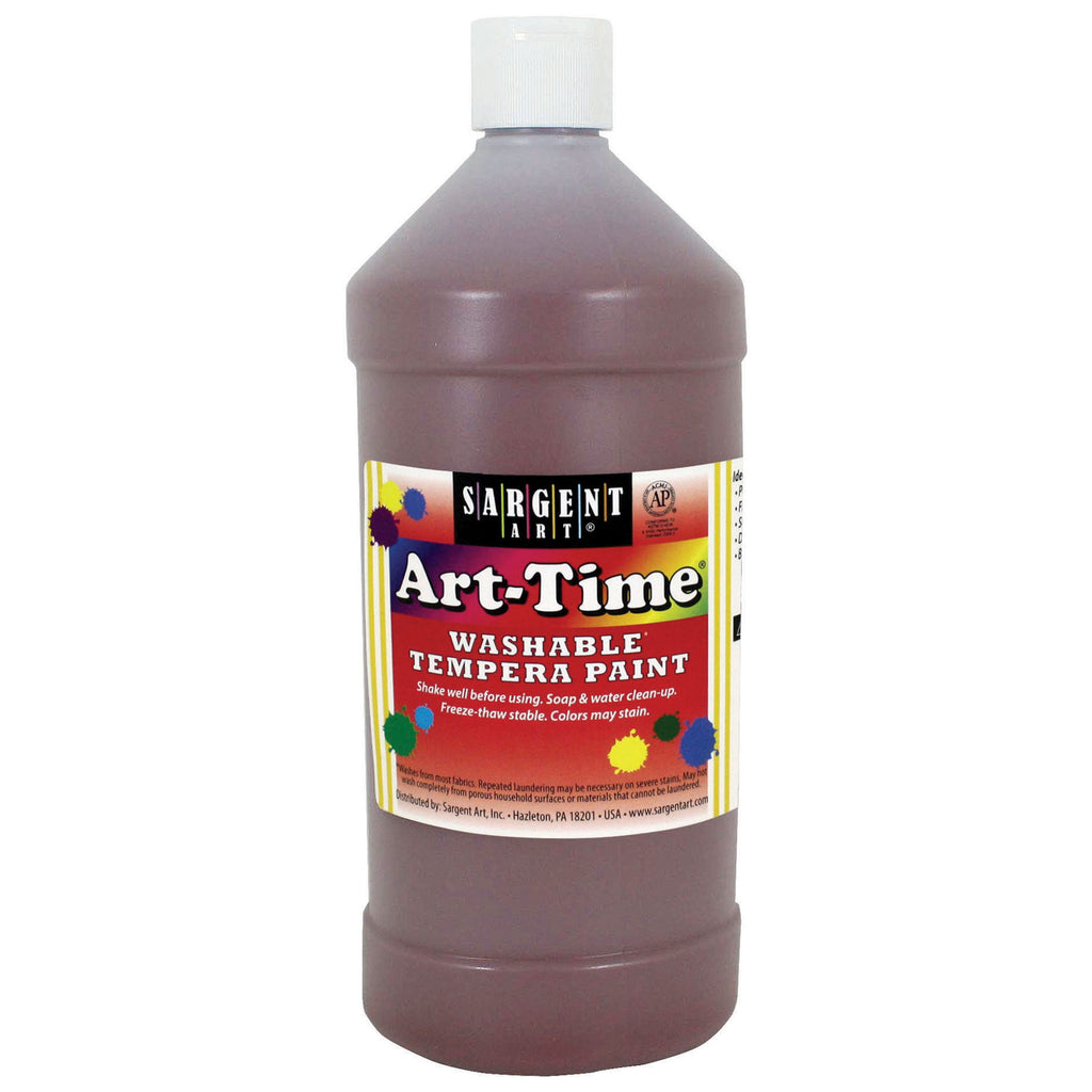 Sargent Art® Washable Tempera Paint, 32 Oz. Brown