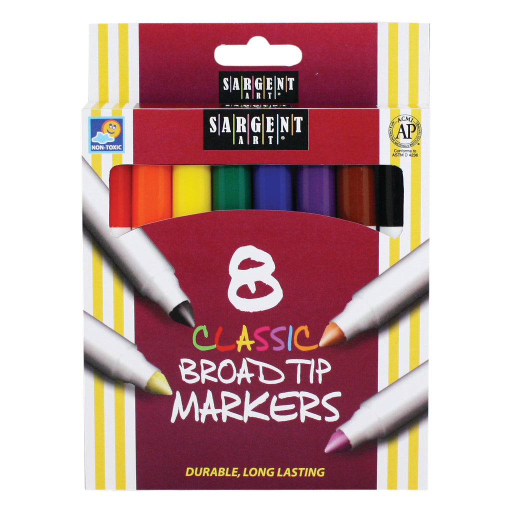 Sargent Art® Classic Markers Broad Tip, 8 Colors