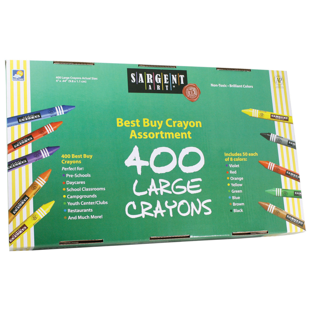 Sargent Art® Best Buy Crayon Assortment, 400 Large Crayons