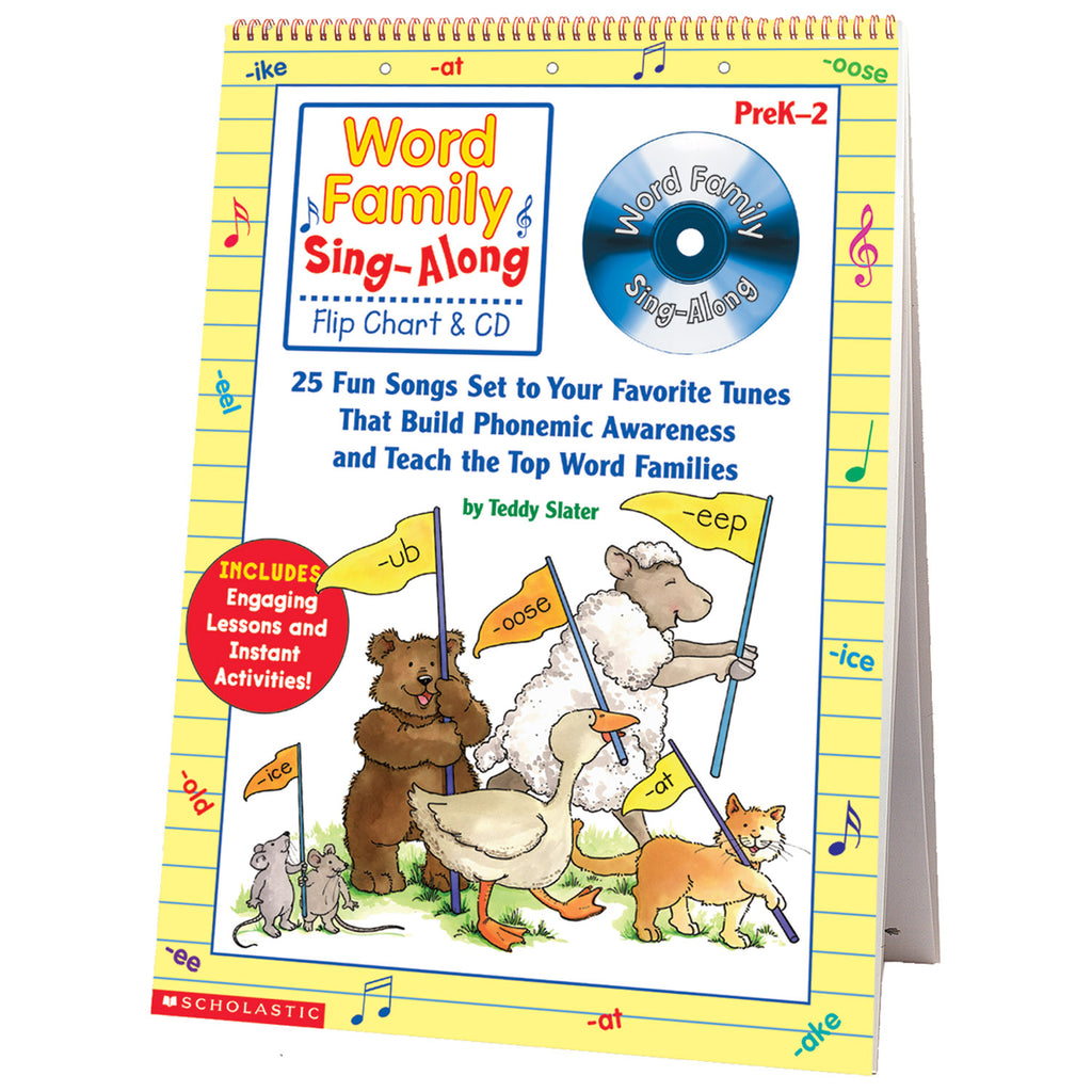 Scholastic Word Family Sing-Along Flip Chart & CD