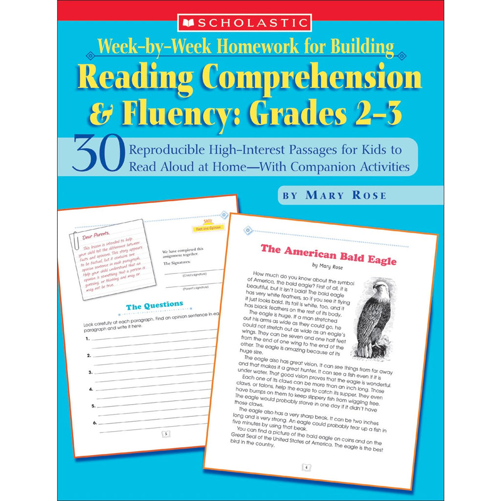Scholastic Week-by-Week Homework for Building Reading Comprehension & Fluency: Grades 2–3