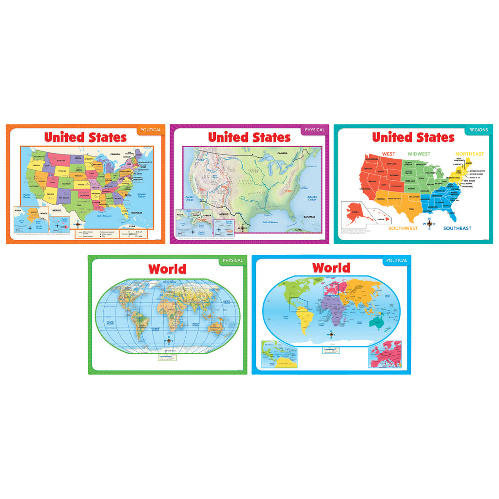 Scholastic Teaching Maps Bulletin Board