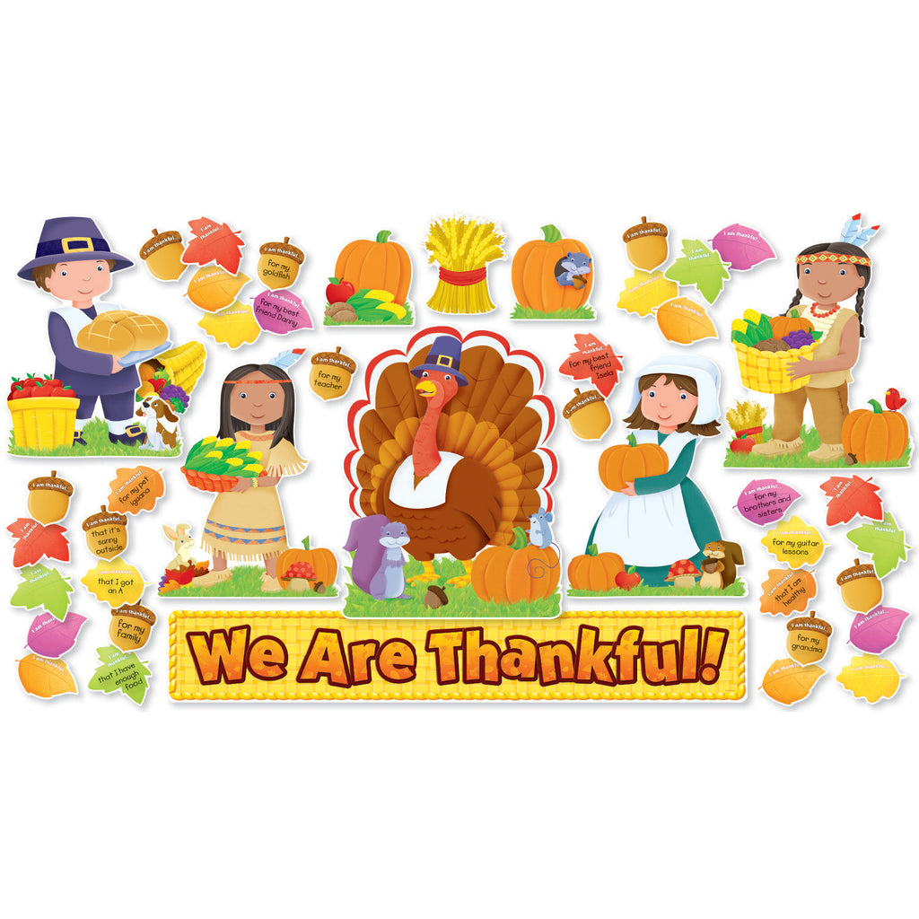 Scholastic We Are Thankful! Bulletin Board Set