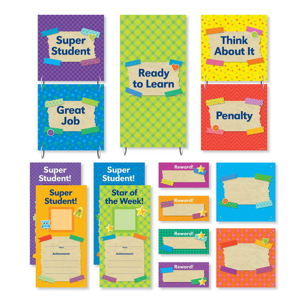Scholastic Tape It Up! Behavior Clip Chart Mini Bulletin Board Set