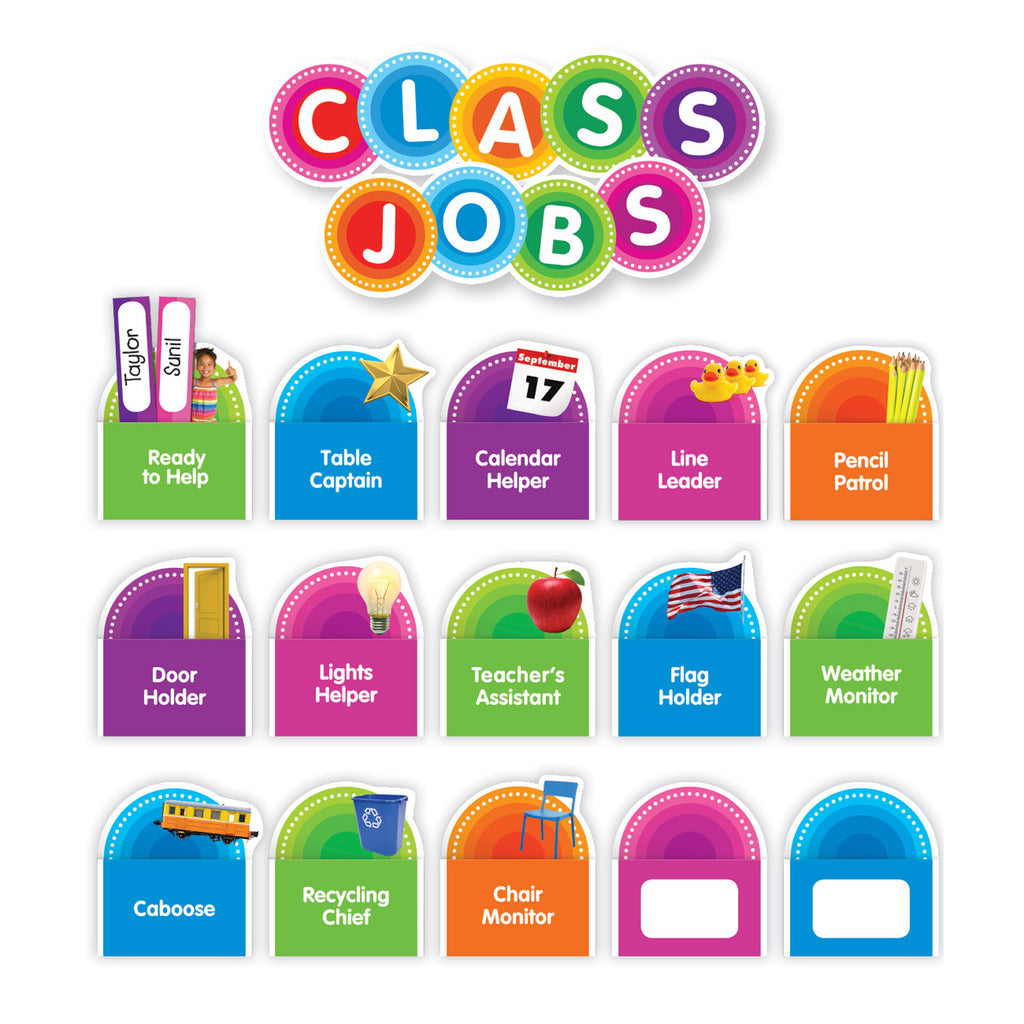 Scholastic Color Your Classroom: Class Jobs Bulletin Board Set