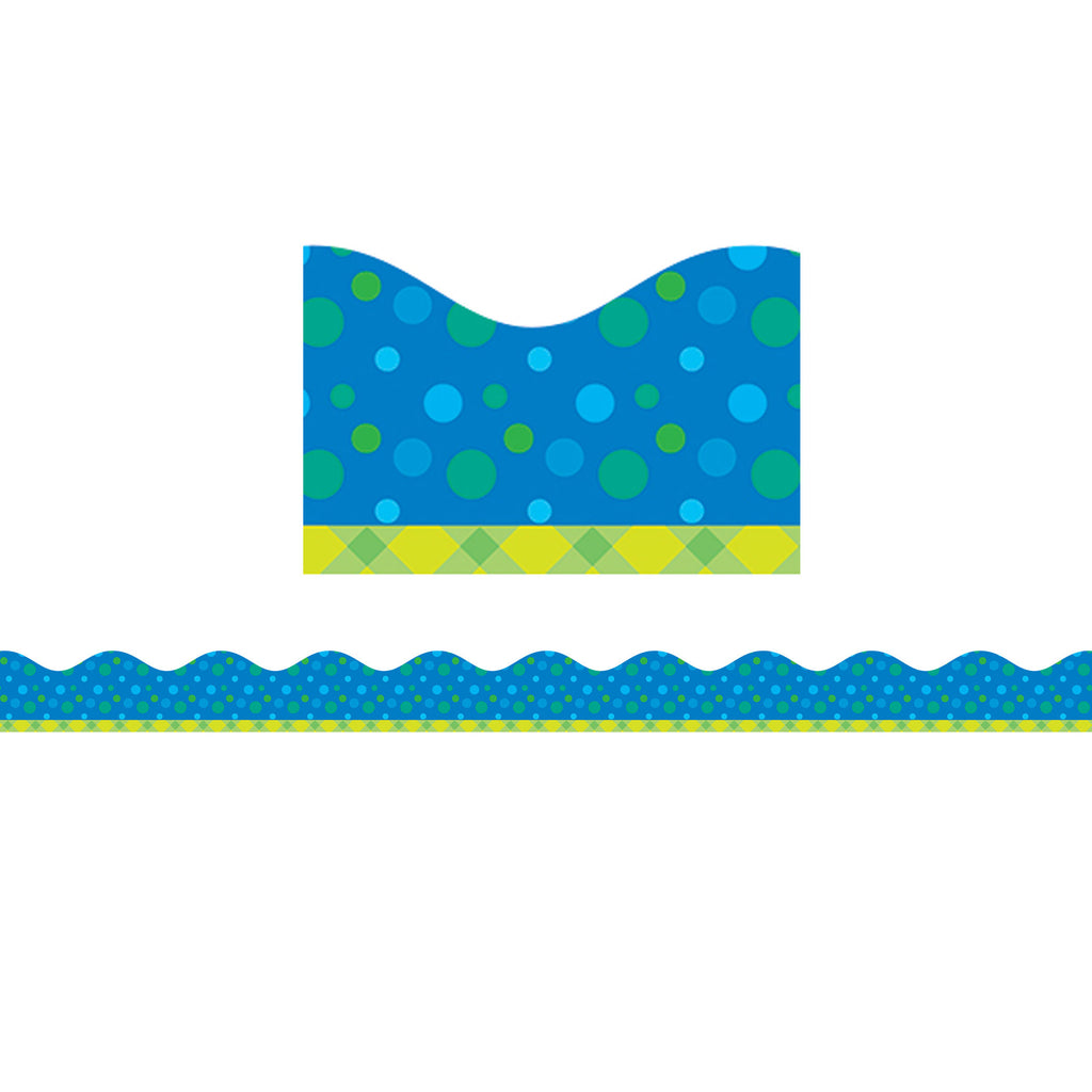 Scholastic Tape It Up! Bubbling Blues Scalloped Bulletin Board Trimmer