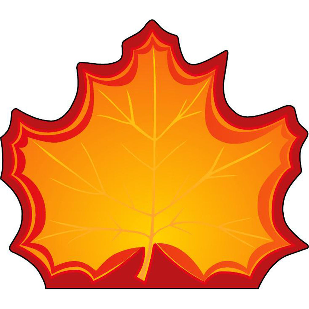 Creative Shapes Notepad Large Maple Leaf