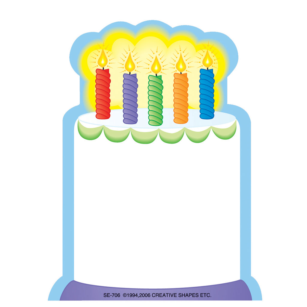 Creative Shapes Notepad Mini White Cake 35 Sheets 3 x 3
