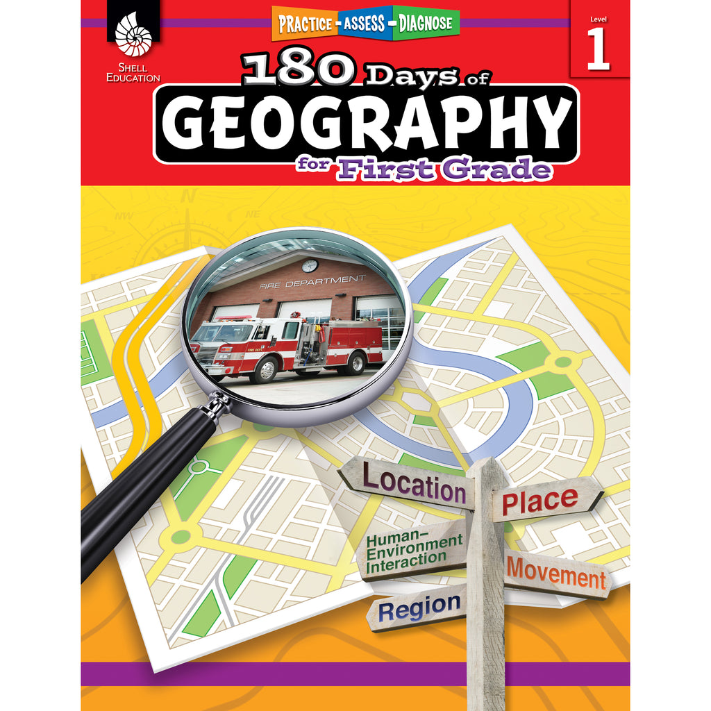 Shell Education 180 Days of Geography for First Grade