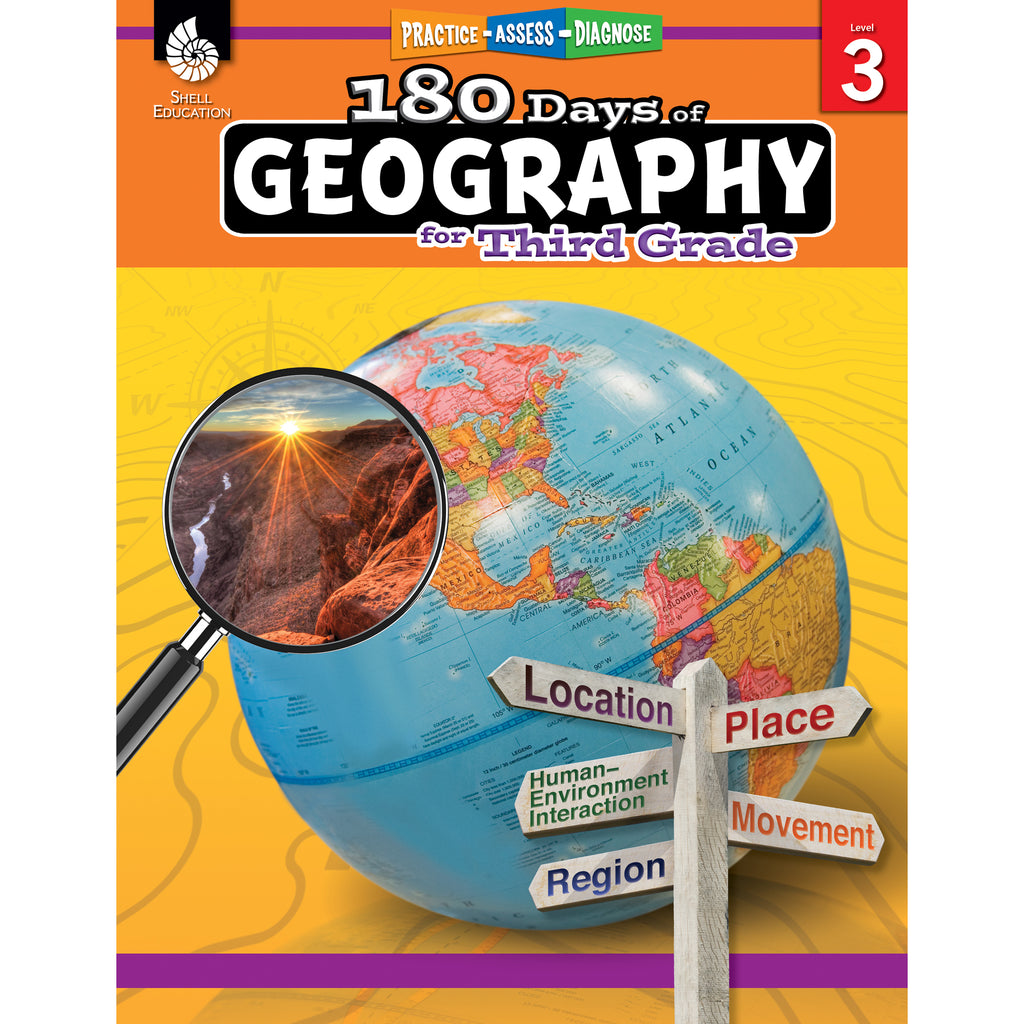 Shell Education 180 Days of Geography for Third Grade