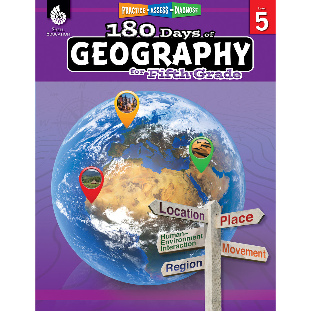 Shell Education 180 Days of Geography for Fifth Grade