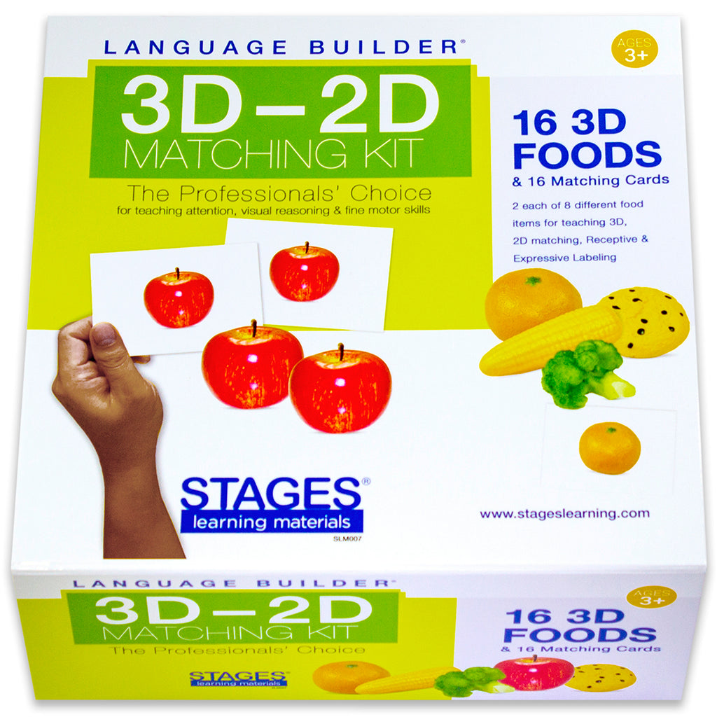 Stages Learning Materials Language Builder: 3D - 2D Food Matching Kit