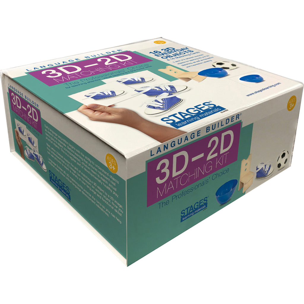 Stages Learning Materials Language Builder: 3D - 2D Everyday Object Matching Kit