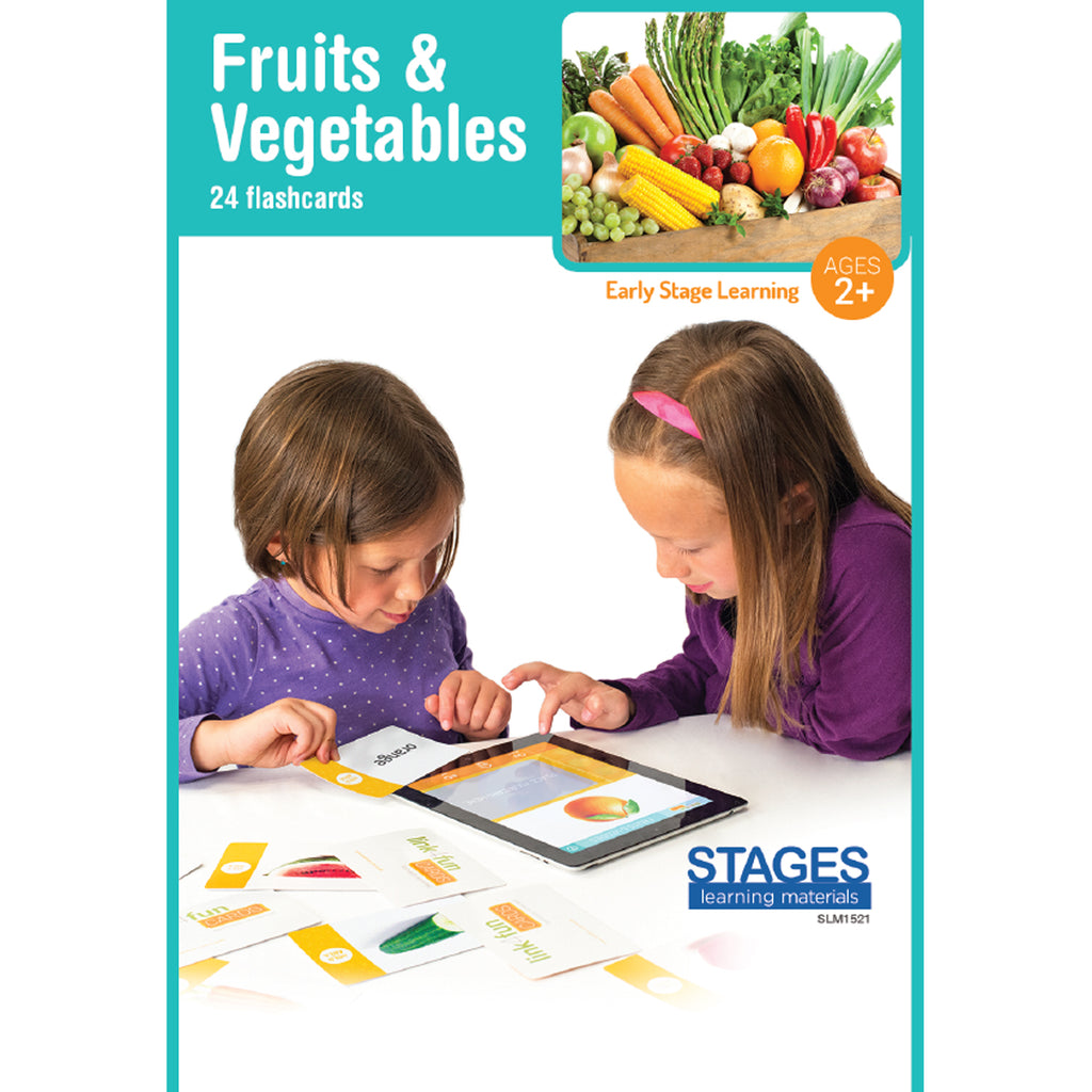 Stages Learning Materials Link4fun Fruits & Vegetables Flashcards