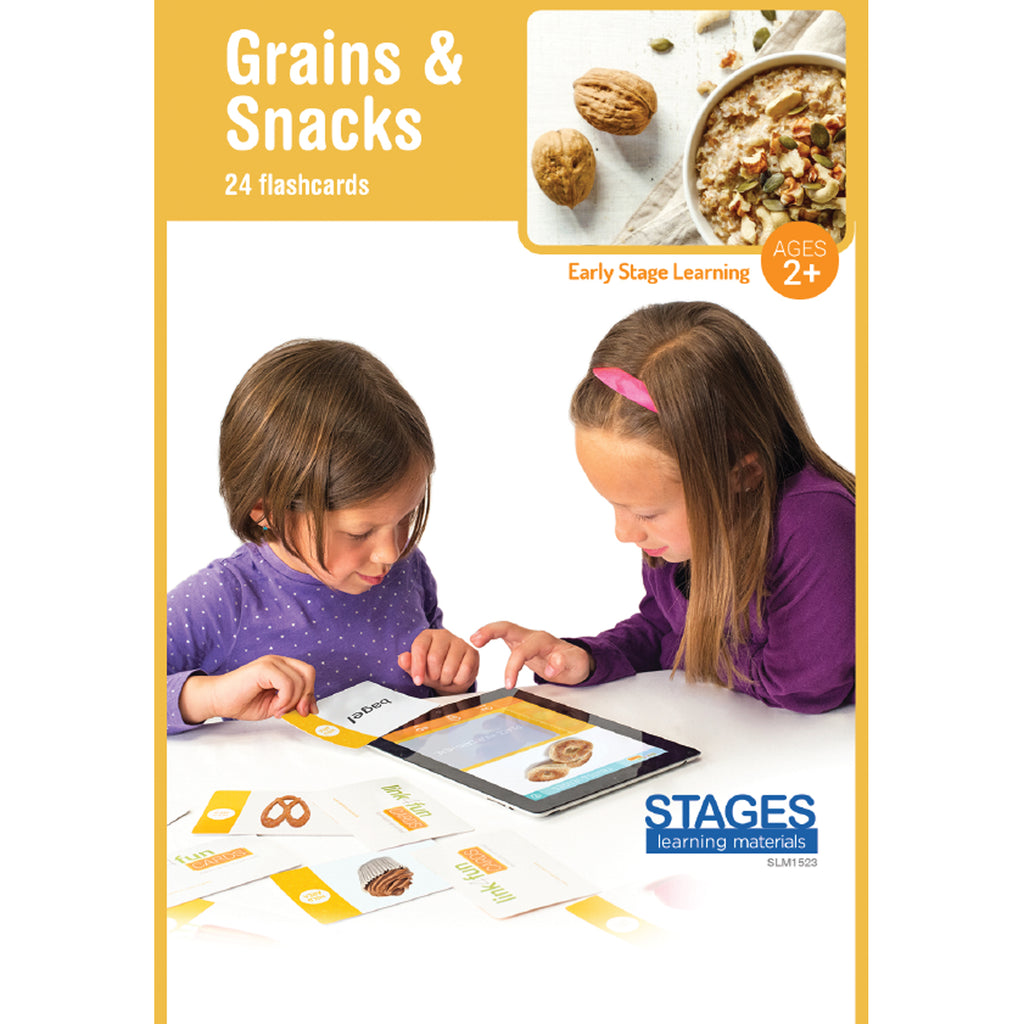 Stages Learning Materials Link4fun Grains & Snacks Flashcards