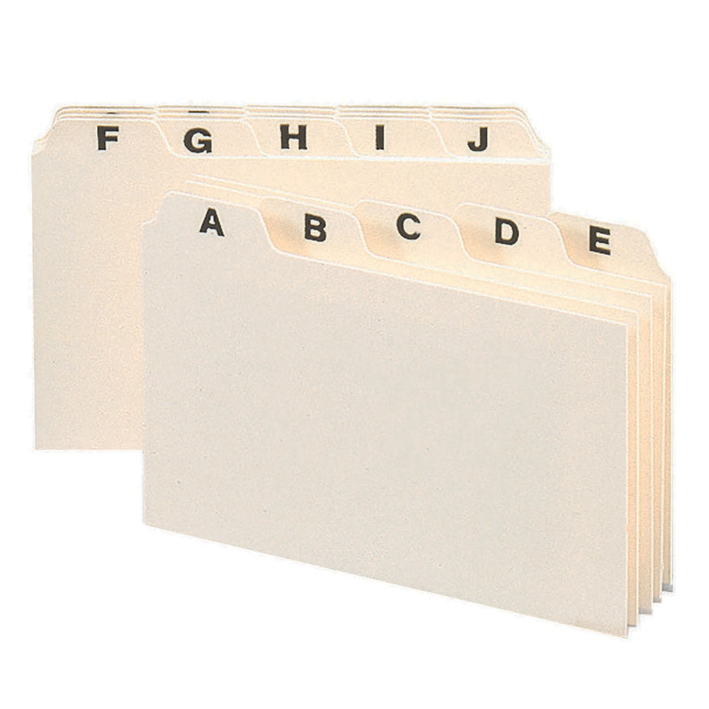 "Smead Heavyweight Card-Sized Guides with Alphabetic Tabs, 6""W x 4""H"