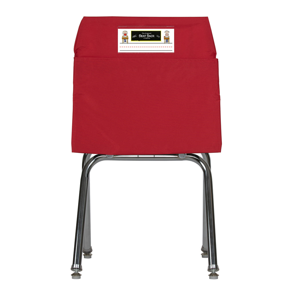 Red Seat Sack, Medium Size 15 Inch Chair Storage Pocket