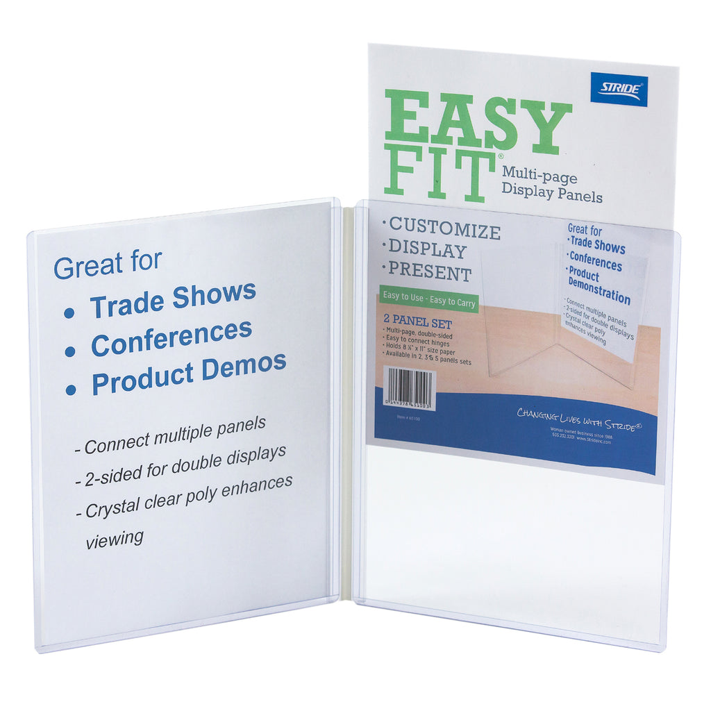 Stride EasyFit Multi-page Display Panels, 2 Panel Set