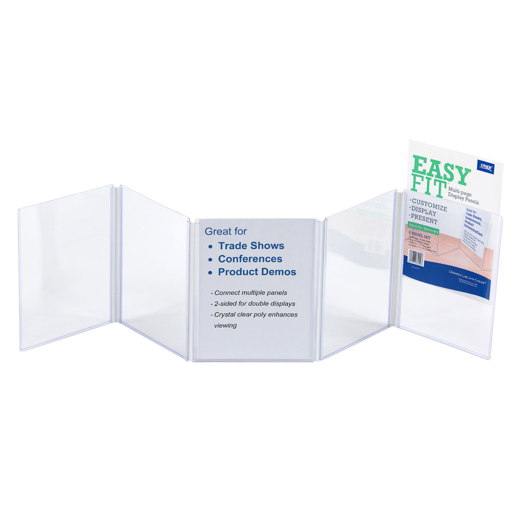 Stride EasyFit Multi-page Display Panels, 5 Panel Set