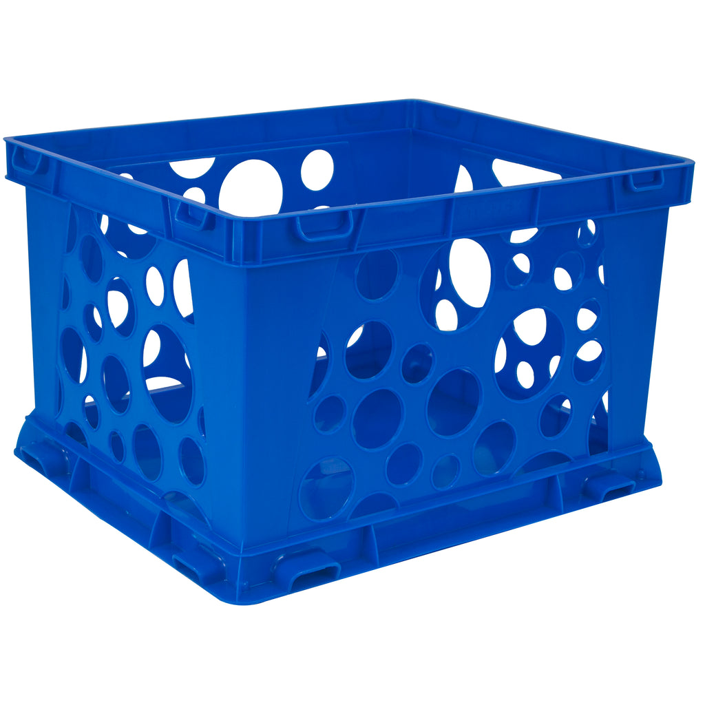 Storex Industries Micro Crate, Blue