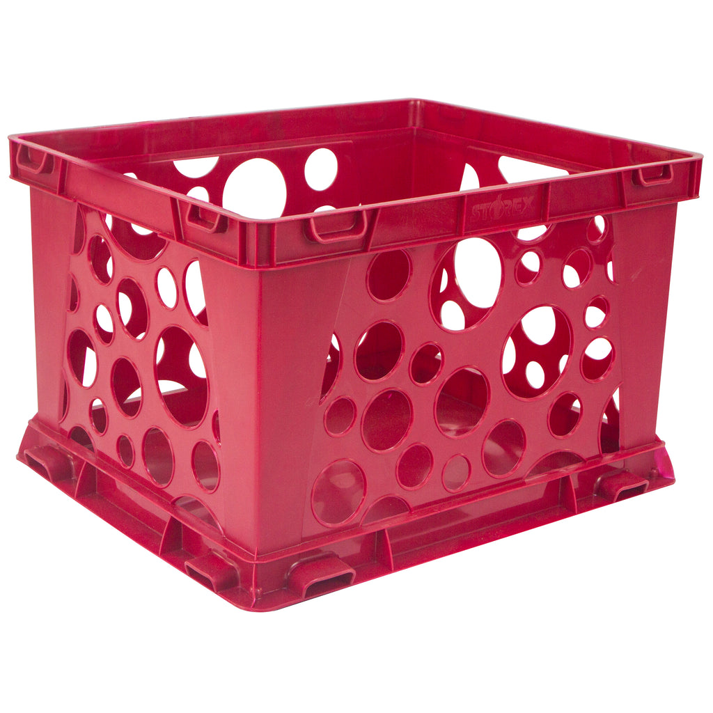 Storex Industries Micro Crate, Red