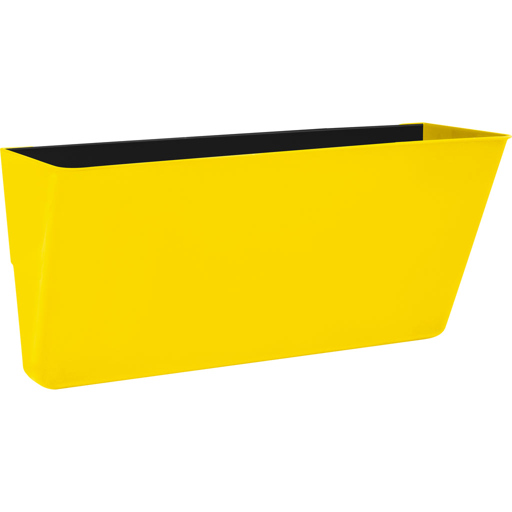 Storex Industries Letter Size Magnetic Wall Pocket, Yellow