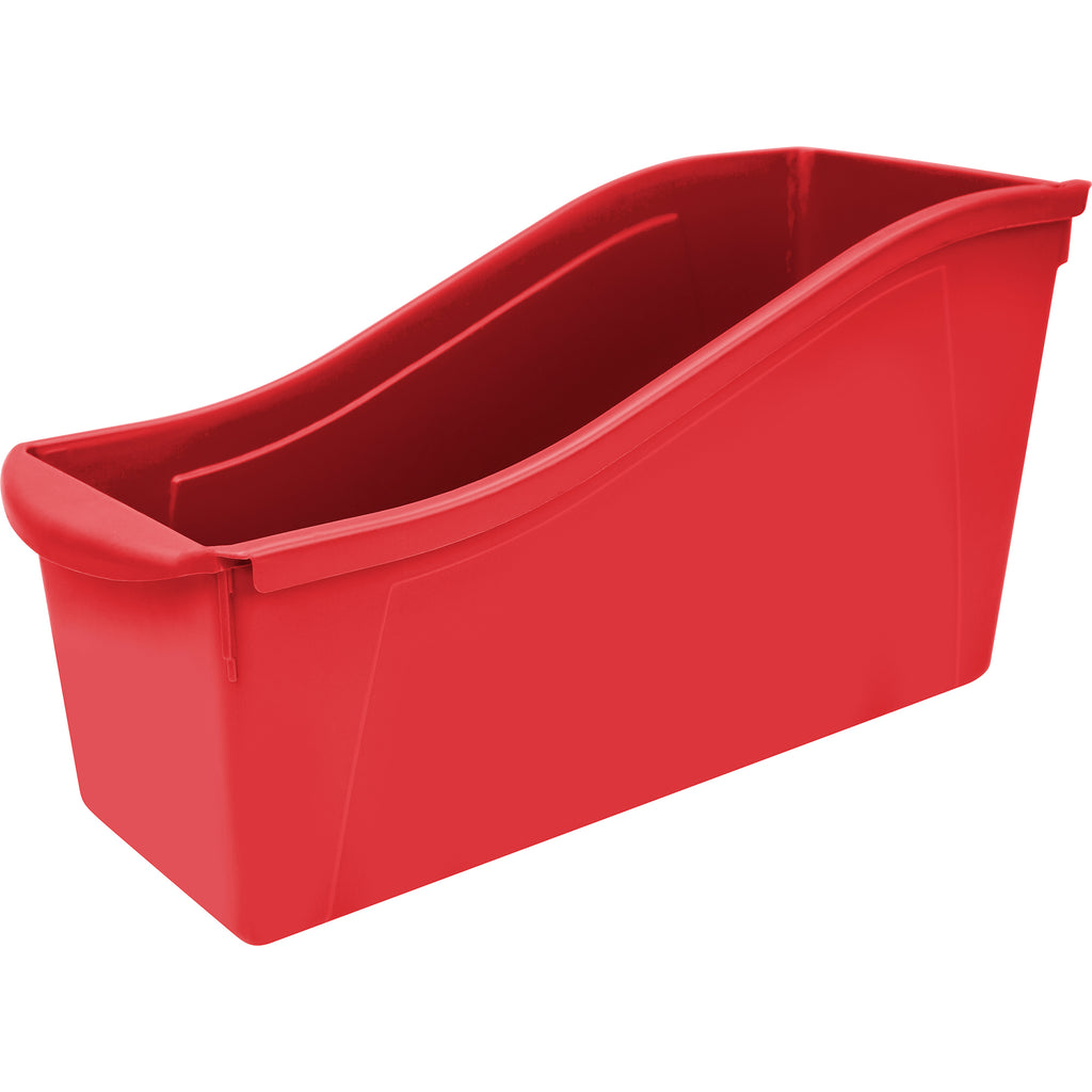 Storex Industries Large Book Bin, Red