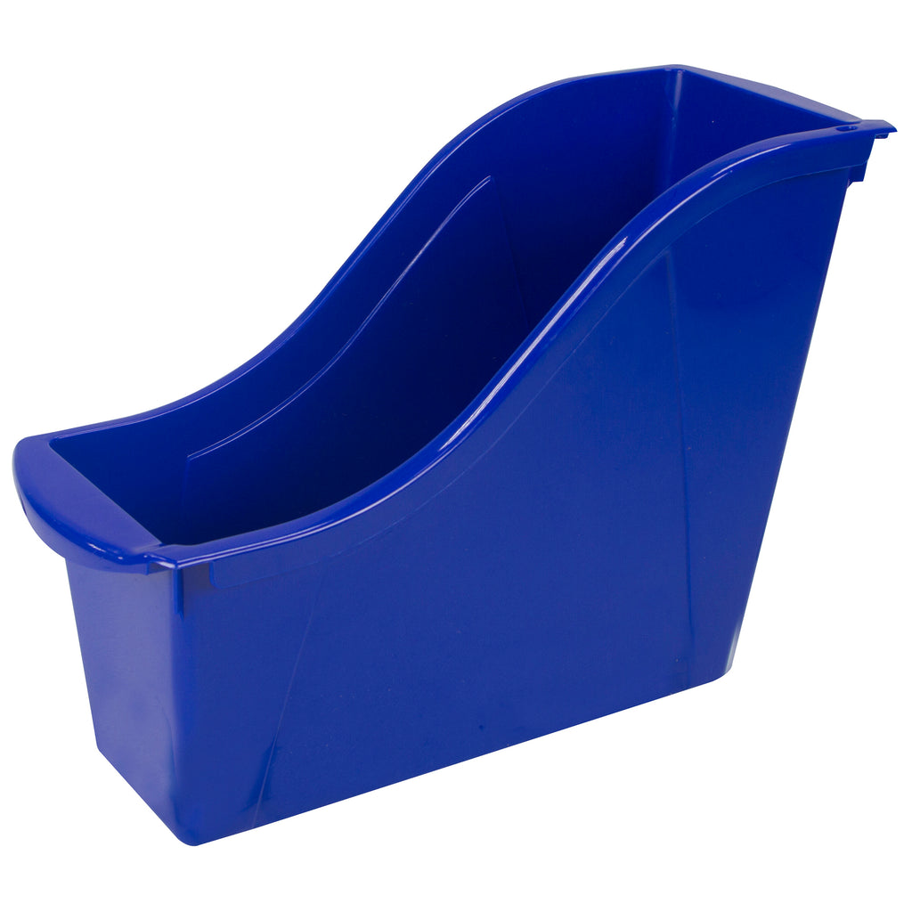 Storex Industries Small Book Bin, Blue
