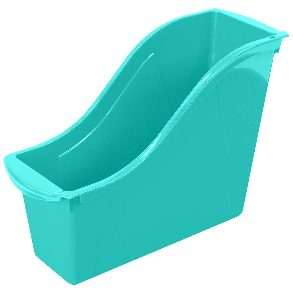 Storex Industries Small Book Bin, Teal