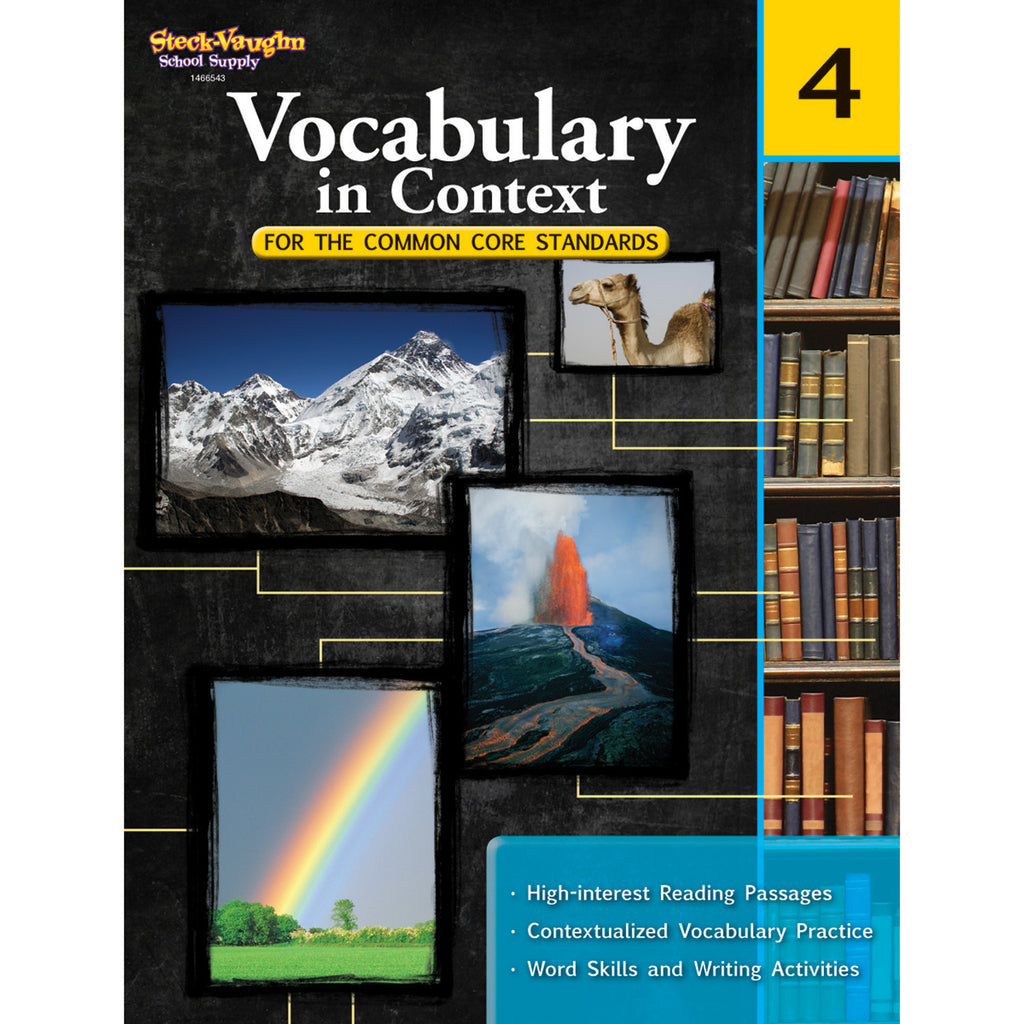Houghton Mifflin Harcourt Vocabulary In Context For The Common Core Standards, Grade 4