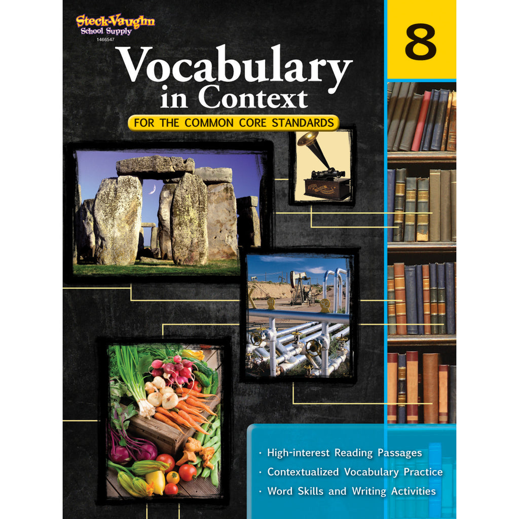 Houghton Mifflin Harcourt Vocabulary In Context For The Common Core Standards, Grade 8