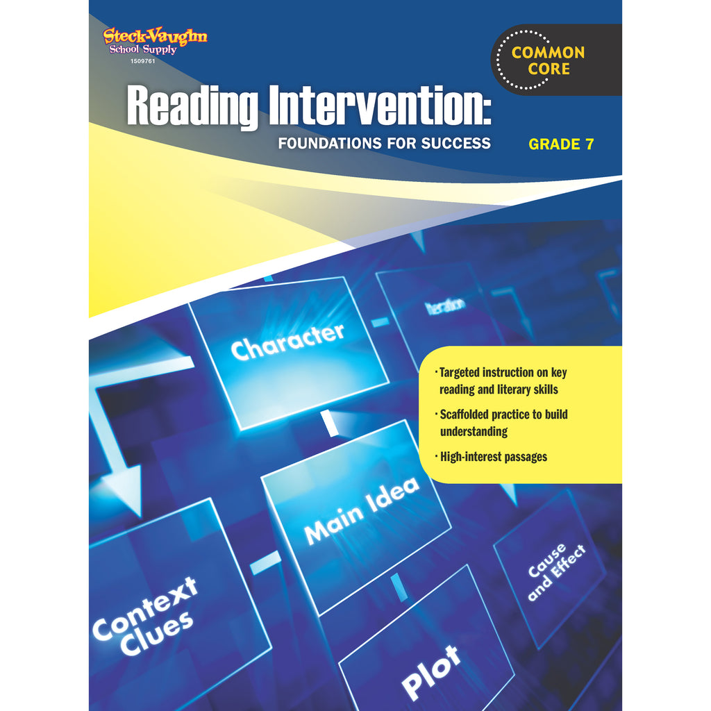 Houghton Mifflin Harcourt Reading Intervention Gr 7 Foundations For Success