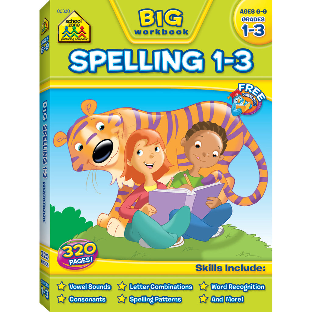 School Zone Publishing Big Spelling Gr 1-3