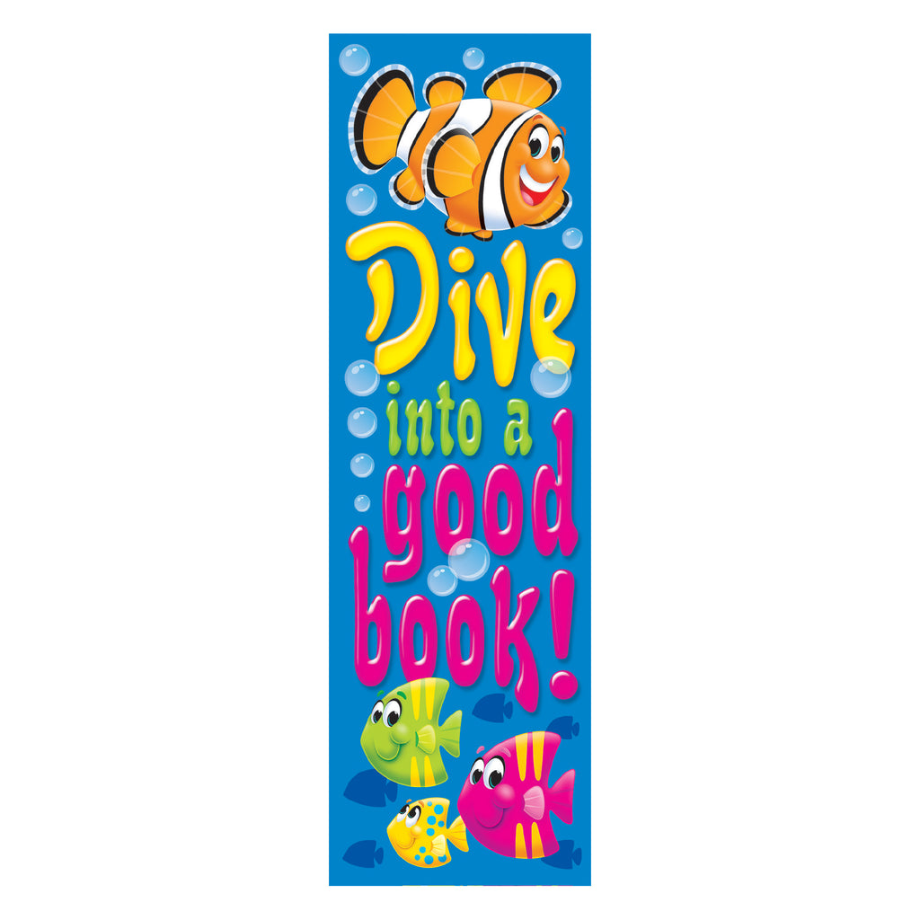 Trend Enterprises Dive into a good book! Sea Buddies™ Bookmarks