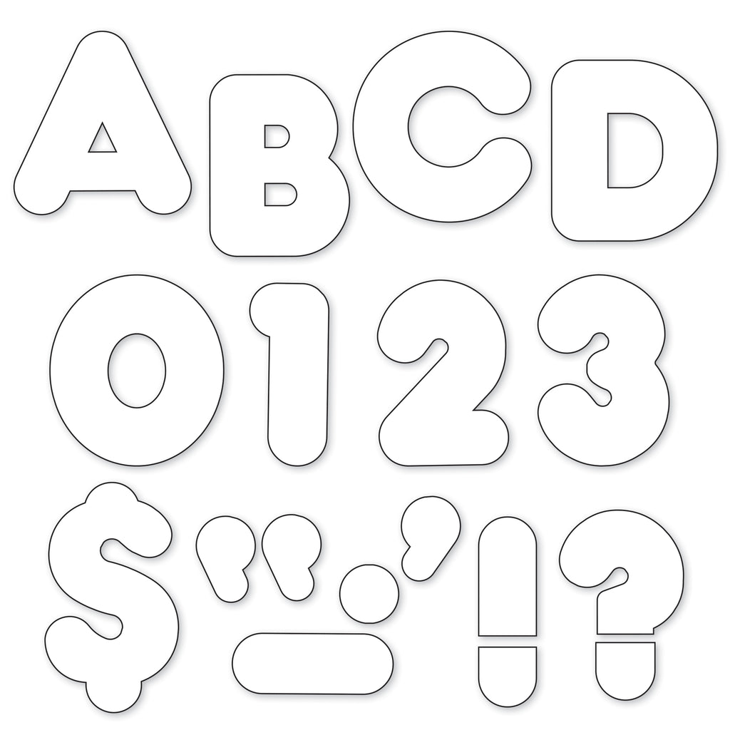 Trend Enterprises White 4-Inch Casual Uppercase Ready Letters®