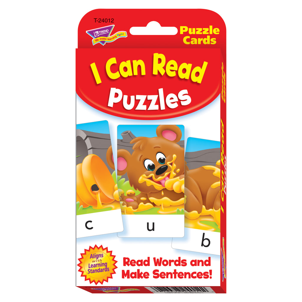 Trend Enterprises Spell & Read Puzzles Challenge Cards®