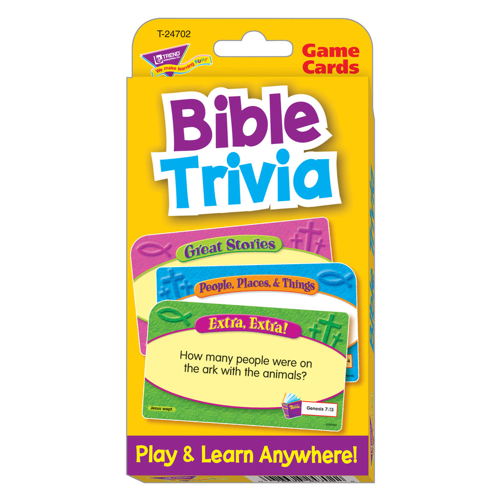 Trend Enterprises Bible Trivia Challenge Cards®