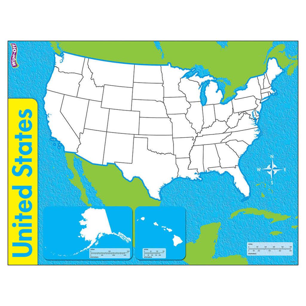 Trend Enterprises The United States Wipe-Off® Maps