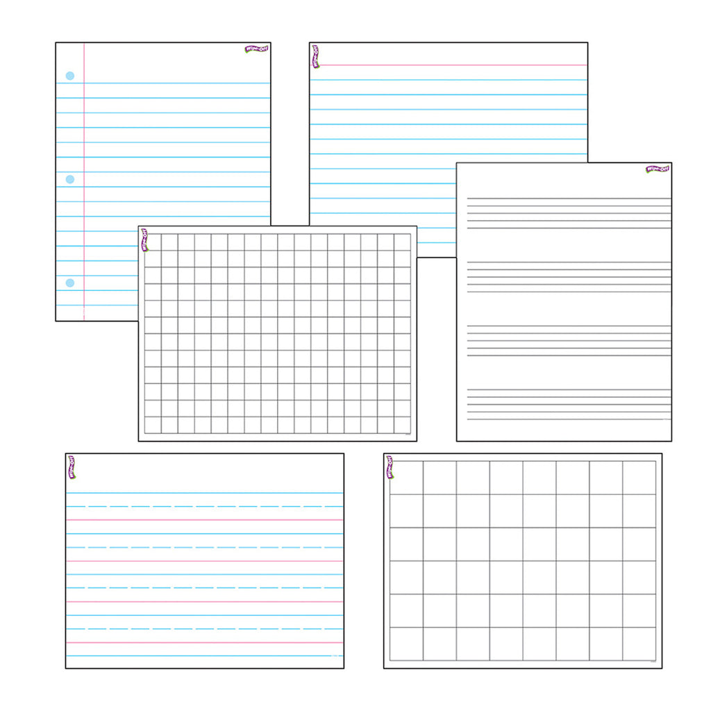 Trend Enterprises Papers & Grids Wipe-Off® Combo Pack
