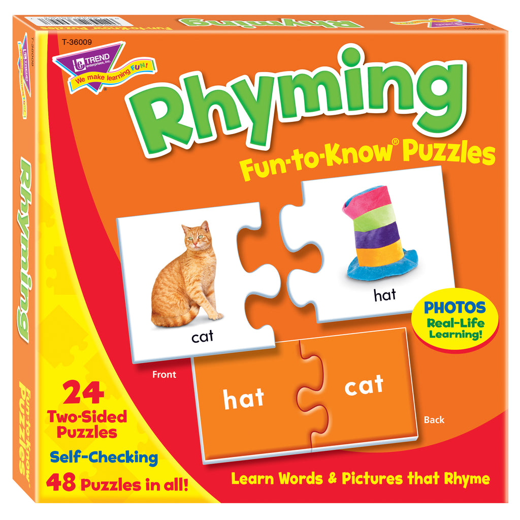Trend Enterprises Rhyming Fun-to-Know® Puzzles
