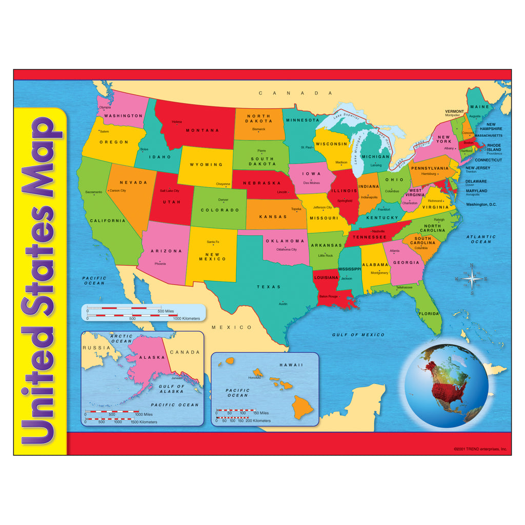 Trend Enterprises United States Map Learning Chart